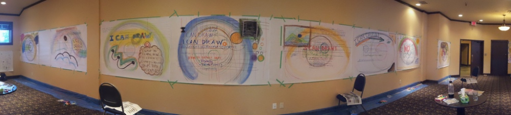 Reflections on 3 days of graphic facilitation in Rossland, B.C, #rosviz (1/3)