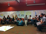 Nancy White facilitating from the inner circle.